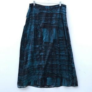 Chico's Burn Out Brynn Maxi Skirt NWT 1.5 #1089